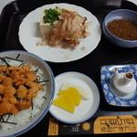 はらほげ - 生うにぶっかけ丼+壱岐ジャンボ豆腐