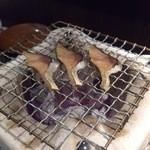 46316129 - 鯖のへしこ炭焼き