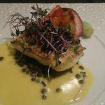 ブライトンキッチン - 鯛のポアレ(サフランクリームソース) 鯛の素材の味を活かしたやさしい塩味と濃厚ソースのバランスがすごくいい