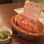 Hamachan55 - お通しのパン(¥250)