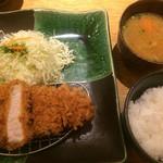 46321321 - 金華豚厚切りロースかつ膳(ランチセット)