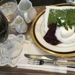 オーストリッヒカフェ  ウィーン - 今回のケーキのヤムゼ (抹茶シフォン アイスコーヒー)