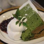 オーストリッヒカフェ  ウィーン - 今回のケーキのヤムゼ (抹茶シフォン)