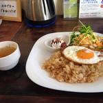 ハイズ カフェ - ランチセット(ナシゴレン、コーヒー、スープ)