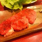 牛ぎゅう - 特選ヒレ(さっと炙って、からし醤油で)