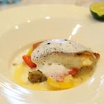 カリフォルニア テーブル - 通常利用外...天然鳴門鯛のポワレ 旬の野菜と黒オリーブの香り