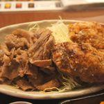 46330357 - 豚バラの焼肉と竜田揚げ的な唐揚げ