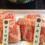 万葉 太郎坊亭 - お肉のアップ~♪