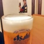 居酒屋わたり - ビールはスーパードライ