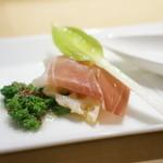 麻布十番 嘉YOSHI - 日本野菜のマリネ うるいと生ハム