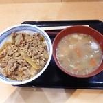 吉野家 - 牛丼+とん汁¥540