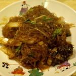 駱駝 - 春雨と鶏肉団子の辛味煮 1500円