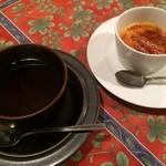 レストラン 半文居 - クレームブリュレと紅茶♪