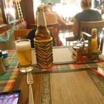 S&G Restaurant - ドリンク写真:ビールはぬるくならないカバー付き