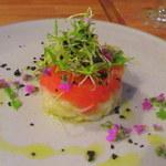46341529 - 干し鱈とトマトのサラダ