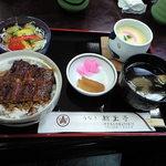 46342539 - ミニ丼鰻茶碗蒸しセット