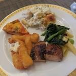レストラン コンチネンタル - 幻魚のフライ キッシュ ドリア アジア風鶏のグリル