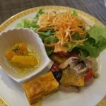 レストラン コンチネンタル - サラダ カボチャのパイ マリネ エスカベッシュ