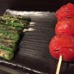 チキン野郎 - 野菜串も色々あって美味しいー!