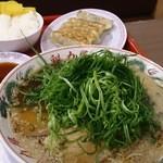 ra-menkairikiya - 醤油ネギラーメン餃子定食¥1030