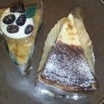 46351513 - かぶせ茶のチーズケーキ クリームチーズの焼きタルト