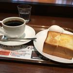 上島珈琲店 - モーニングセット(厚切りトーストとゆで卵)・ブレンドコーヒー(S)