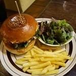 46354149 - ダブルチーズハンバーガー