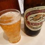 ぐるま亭 - 瓶ビール