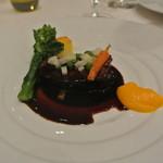 46356525 - 国産牛ホホ肉の赤ワイン煮込み ポレンタと時季の野菜