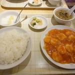 中華料理福臨門 - 2014.8月 海老チリ定食