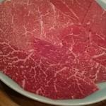 レストランちんや亭 - しゃぶしゃぶの肉