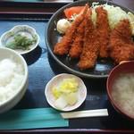 蔵 - エビ・ヒレ・アジフライ定食