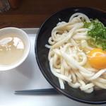 46359803 - しょうゆうどん2玉200円&生卵60円(2016.1.4)