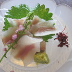 京亭 - 鮎の刺身