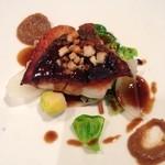 46361658 - 魚料理のアップ