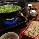 更科藤井 - 〆のセリ+蕎麦