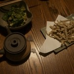 46366155 - 野沢菜漬 蕎麦煎餅