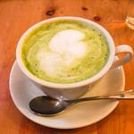 エル.エス カフェ - 静岡掛川 深蒸し煎茶ラテ