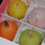 かねい フルーツ餅 松竹堂 - フルーツ餅(4個入り) 1,000円