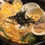 貝縁 - 桑名丼、蛤の玉子とじ丼です。