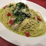 ポルティチェッロ - 牡蠣と春菊のジェノベーゼソース