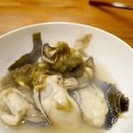 沖野水産 - カキの酒蒸し