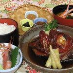 おか田 - 料理写真:当店自慢、金目鯛煮付け定食