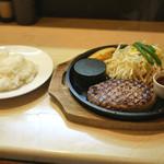 肉食堂 優 - 「レギュラーハンバーグ 」と「ライス並」