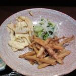 狐兎 - 小鉢(小皿)おばんざいの惣菜3種類