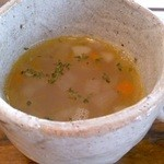 カフェあじろの樹 - セットのスープ