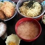 味処 東 - ザルラーメンチカツ定食 780円