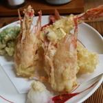 はなび - 料理写真:車海老の天麩羅