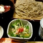 蕎麦処 朝日屋 - ランチ丼セット『マグロ丼・もり大盛り』¥995-