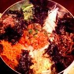 韓美食 オンギージョンギー - キムチ納豆ビビンパ
